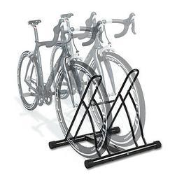 2 Bicycle Bike Stand Garage Floor Storage Organizer Cycling