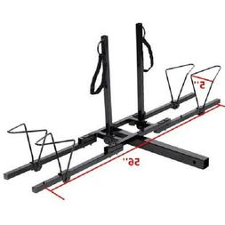 New Upright 2 Mountain Bike Rack Hitch Carrier 2 Rear For SU