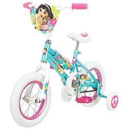 Nickelodon Dora Puppy 12 inch Girl's Bike with Training Whee