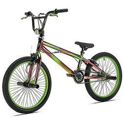 "20"" Kent Nightmare Boys' BMX Bike, Single Speed Green - Free"