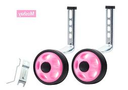 MOSHAY Noctilucent Training Wheels for 14 16 18 20Inch Pink