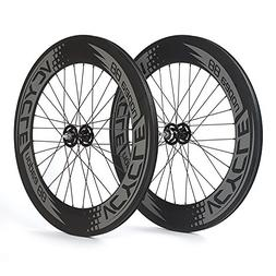 VCYCLE Nopea 700C Carbon Clincher Track Wheelset 88mm Fixed