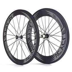 VCYCLE Nopea 700C Road Bike Carbon Wheelset Clincher Front 6
