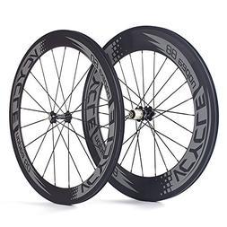VCYCLE Nopea 700C Road Bike Carbon Wheelset Clincher Front 6
