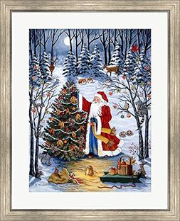 Northwoods Christmas by Sheila Lee Framed Art Print Wall Pic