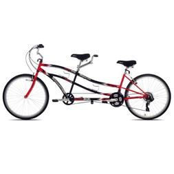 Kent Northwoods Dual Drive Tandem Bike, 26-Inch, Red/Black