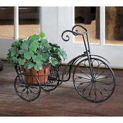 LOT of 2 Nostalgic Old-Fashioned Styled Iron Tricycle Plante
