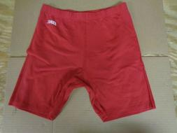 NWT Mens / Boys BIKE Shorts Size Medium Red L165