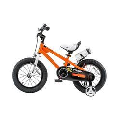 Orange Steel Frame 16 in. Wheels Freestyle BMX Kid's Bike wi