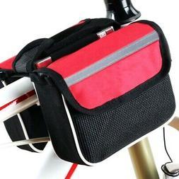 Outdoor Bike Handlebar Bag Bicycle Pannier Frame Tube Cyclin