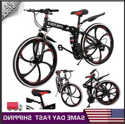 Outroad Mountain Bike  21 Speed 26 in Folding Bike Double Di