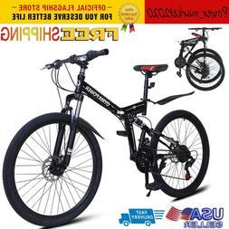 Outroad Mountain Bike 21 Speed 26 inch Folding Bike Disc Bra