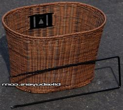 Fito Oval PE Wicker Mounting Basket, Dark Brown, High Qualit