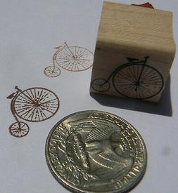 "P24 Miniature Antique Bicycle rubber stamp WM 0.8x0.8"" Victo"