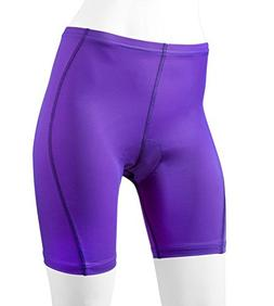 Women's Padded Classic Bike Shorts Purple X-Large