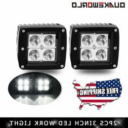 """2X 3""""  LED Work Light Pods Square Spot Driving Fog Lamp Offr"""