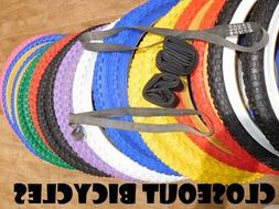 PAIR HD KNOBBY Dirt Old School BMX Bicycle Tires/Tubes/Rim S
