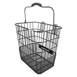 Sunlite Pannier Mesh Bottom Side Basket, 13x9.5x12.5in, Blac