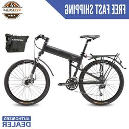"""Montague Paratrooper Pro 18"""" Mountain Folding Bike with Carr"""