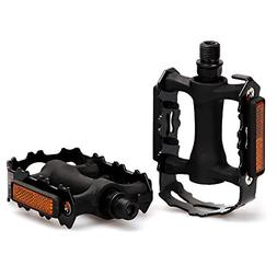 fitTek Bike Pedals, Universal Bicycle Pedals, 9/16-Inch Boro