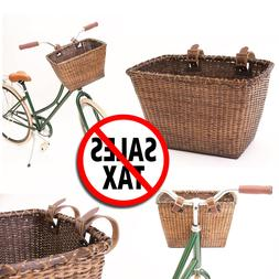 Pet Basket Storage Dog Cat Ride Bike Front Handlebars Bicycl
