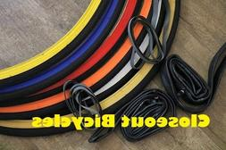 """Pick Any! 2-Pack Duro 27x1-1/4"""" Road Bicycle Tires Tubes & R"""