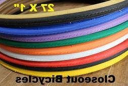 """Pick Any Color! Duro 27"""" X 1"""" Road Touring Bike Bicycle Tire"""