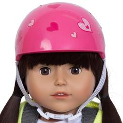 Pink Doll Bike Seat with Decorate Yourself Stickers for 18 i