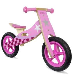Wild Baby Pink Wooden Balance Running Bike Upgraded Birch Wo