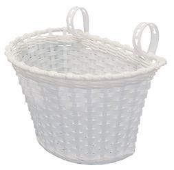 Kent Plastic Bicycle Basket, White, 10 x 6 x 6-Inch