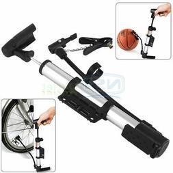 Portable Mini Bicycle Cycling Bike Air Pump Sports Ball Bask