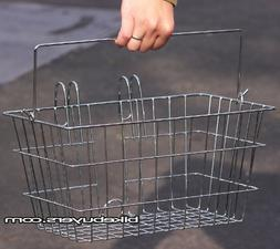 Fito Portable Wire Basket - Chrome, Made in Taiwan, Lift-off