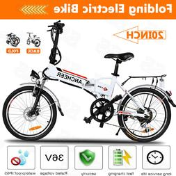 """ANCHEER Power Electric Bike with Lithium-Ion Battery 20"""" Whe"""