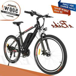 ANCHEER Power Plus Electric Mountain Bike Removable Lithium-