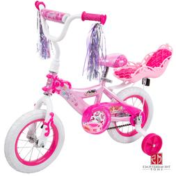Princess Pink Bike For Girls 12 Inch Training Wheels Starter