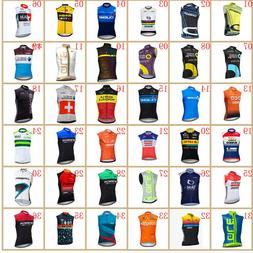 pro team men bike sleeveless Jersey 2019 summer cycling clot