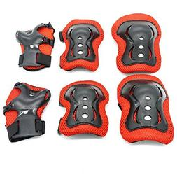 Kids Protective Gear,Knee Pads Elbow Pads Wrist Guards 3 In