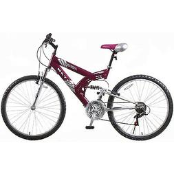 26 Inch Titan Punisher Women 21 Speed Dual Suspension All Te