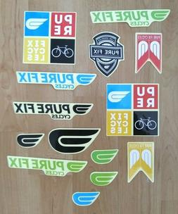Pure Fix Cycles Frame Decal Sticker Pack Bicycle - Lot of 14