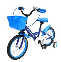 "Venzo Children 16"" Push Kids Bike with Training Wheels Blue"