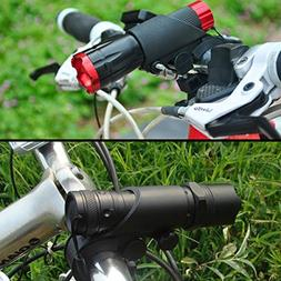QY Black Bicycle LED Torch Mount Flashlight Clamp Clip Holde