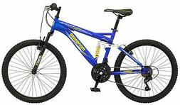 Boys 24 Inch Mongoose Ravage Bike - Blue