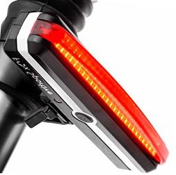Rear Bike Light USB Rechargeable, Red LED Bicycle Tail Light