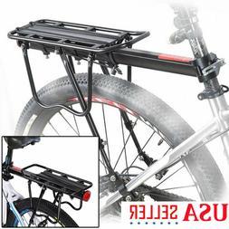 Rear Bike Rack Heavy Duty Alloy Bicycle Carrier 110 Lb Capac