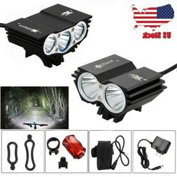 Rechargeable 15000Lm X3 X2 XM-T6 LED SolarStorm Front Bicycl