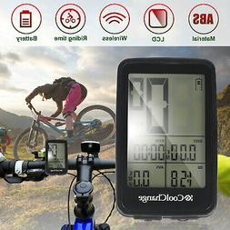Rechargeable Wireless LCD Bike Computer Bicycle Speedometer