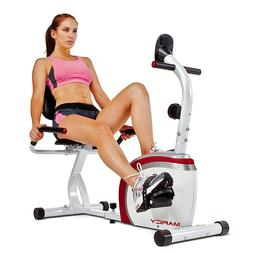 Marcy Recumbent Exercise Bike with Magnetic Resistance and P