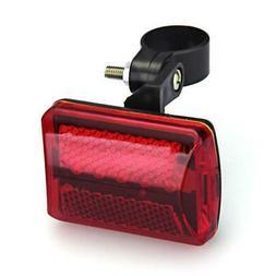 Red Bicycle Bike Rear Tail Light 5-LED Safety Flashing Mount