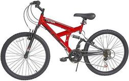 Mountain Bike Red Boys Gauntlet 24 in. 18 Speed Cycling Bicy