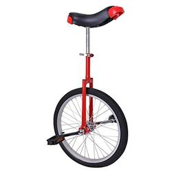 20in Red Chrome Unicycle W Free Stand Wheel Skidproof Tire B